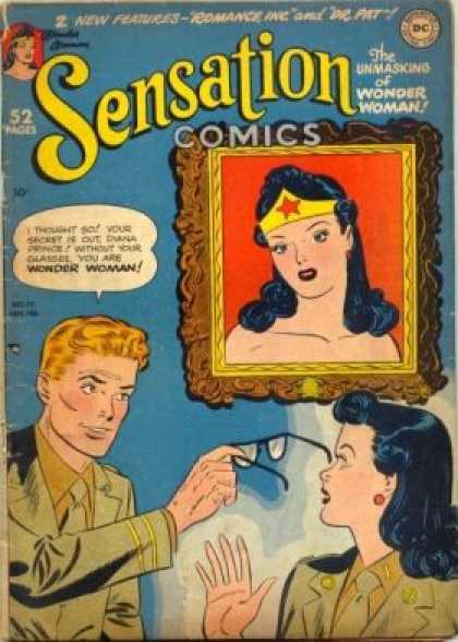 Sensation Comics 95 - Dc - Superhero - Silver Age - Wonder Woman - Portrait