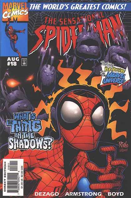 Sensational Spider-Man 18 - Lurking In The Distance - Back For More - Tangled Up Again - Action In The Web - Back For Some - Mike Wieringo