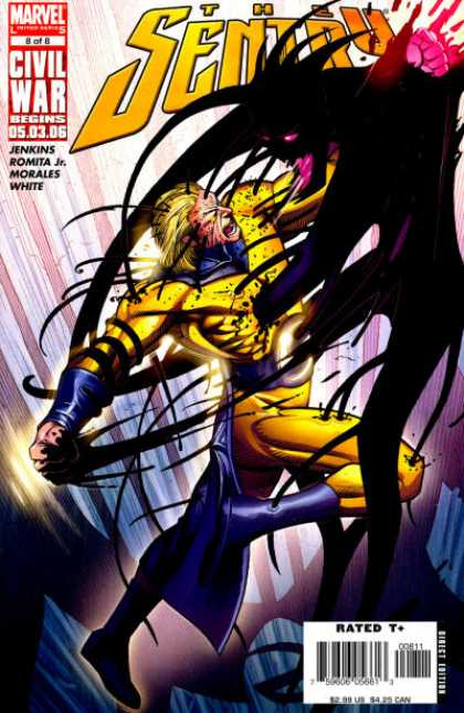 Sentry 8 - Civil War Begins - Dark Monster - Marvel - Jenkins Romita Jr - Morales White - John Romita