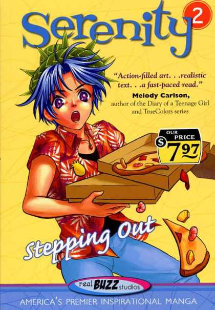 Serenity 2 - Stepping Out - Pizza - Manga - Melody Carlson - Americas Premier Inspirational Manga - Joe Quesada