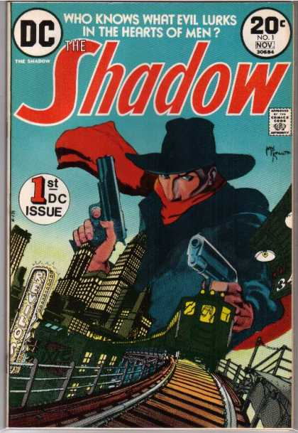 Shadow (Comic) 1 - Who Knows What Evil Lurks In The Hearts Of Men - 1st Dc Issue - Train - Guns - Hero