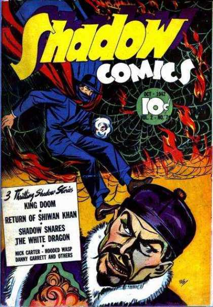 Shadow Comics 19 - King Doom - 3 Thrilling Shadow Stories - Shadow Snares - The White Dragon - Return Of Shiwan Khan