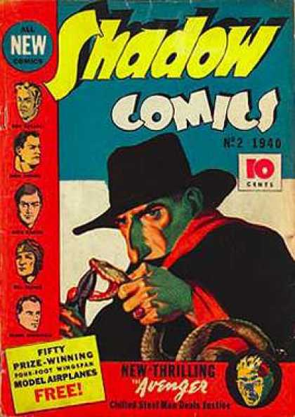 Shadow Comics 2 - All New Comics - No 2 1940 - 10 Cents - Fifty Prize Winning - Model Airplanes Free