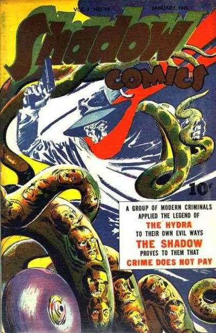 Shadow Comics 46 - The Hydra - Modern Criminals - Red Scarf - Gun - Snakes