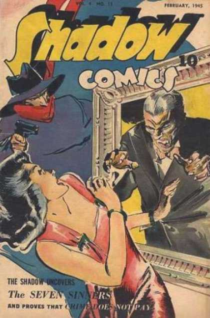 Shadow Comics 47 - Seven Sinners - Pistol - February 1945 - Crime - Masked Man