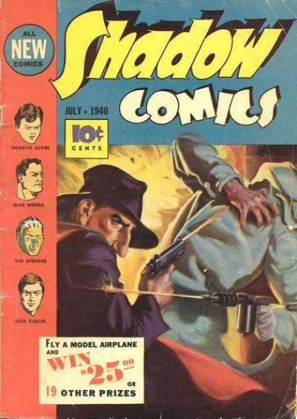Shadow Comics 5 - 10 Cents - July 1940 - Prizes - Guns - Weapons