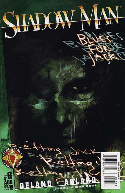 Shadowman 6 - Blues For Jack - Face - Rotting Jack - Acclaim Comics - Valiant Heroes - Ashley Wood