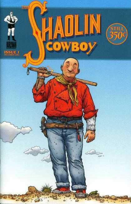 Shaolin Cowboy 1 - Issue 1 - Chinese Guy - Beating Stick - Pistol - Saggy Holster - Geof Darrow