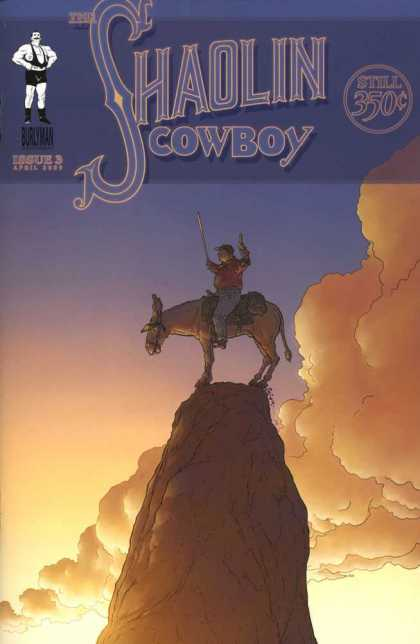 Shaolin Cowboy 3 - Muscular Man - Sunset - Clouds - Steep Hill - Man - Geof Darrow