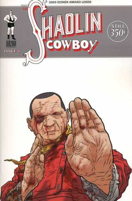 Shaolin Cowboy 4 - Monk - Fight - Black Eye - Bloody - Palm - Geof Darrow
