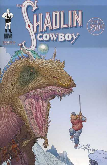 Shaolin Cowboy 5 - Dragon - Burlyman - Cliff - Sword - Snow - Geof Darrow