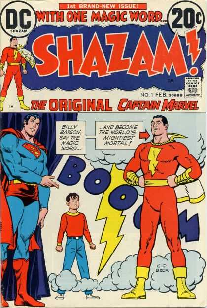 Shazam 1 - Boom - Superman - One Boy - Billy Batson - The Worlds Mightiest Mortal
