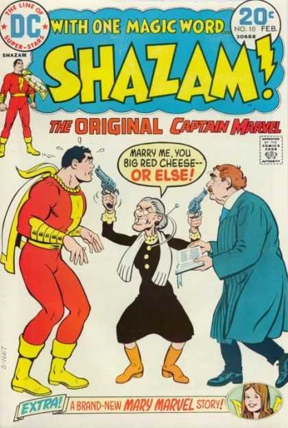 Shazam 10 - 20 Cents - Speech Bubble - Superhero - Old Lady - Comics Code Authority