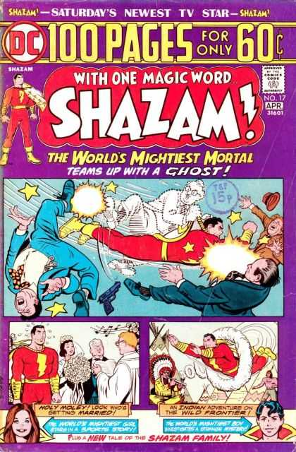 Shazam 17 - Saturday Tv Comics - Ghost - No 17 April Edition - Dc Comics - Lightning Bolt