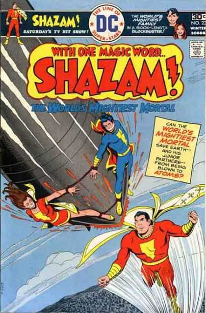 Shazam 23 - Missle - Bonded - Tied - Clouds - Flying