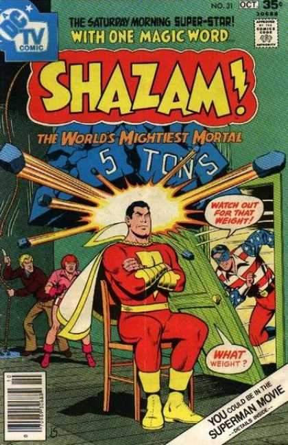 Shazam 31 - 5 Tons - Mightiest Mortal - Chair - Sitting - One Magic Word
