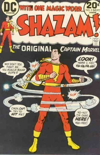 Shazam 5 - Dc Shazam - The Original Captain Marvel - Costume - Hero - With One Magic Word