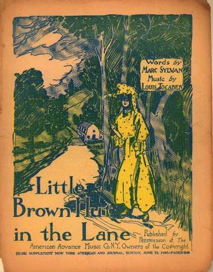 Sheet Music - Little brown hut in the lane