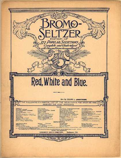 Sheet Music - Red, white and blue