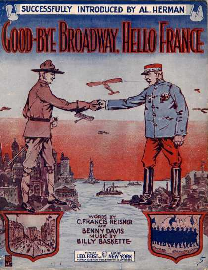 Sheet Music - Good-bye Broadway, hello France; Passing show of 1917