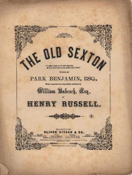 Sheet Music - The old sexton