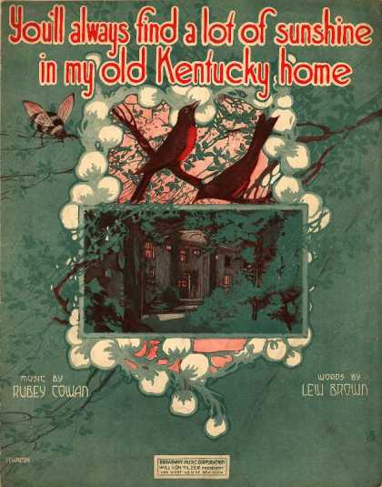 Sheet Music - You'll always find a lot of sunshine in my old Kentucky home