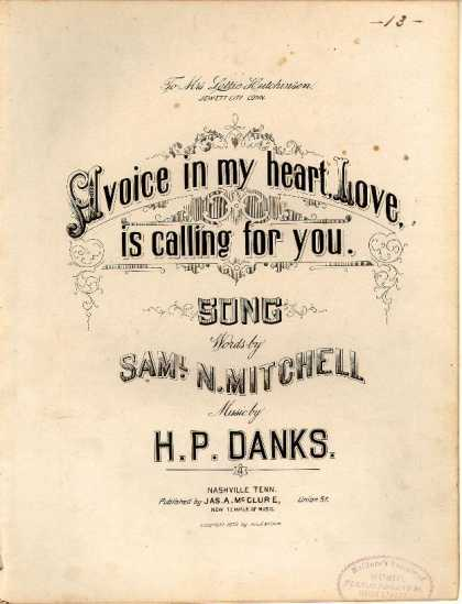 Sheet Music - A voice in my heart, love, is calling for you