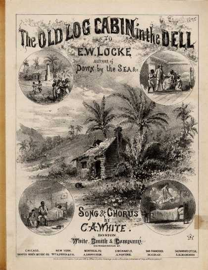 Sheet Music - The old log cabin in the dell