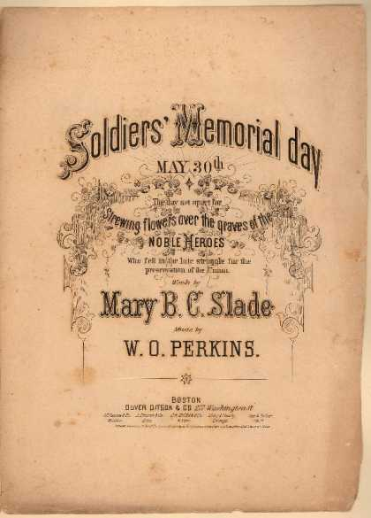 Sheet Music - Soldier's memorial day