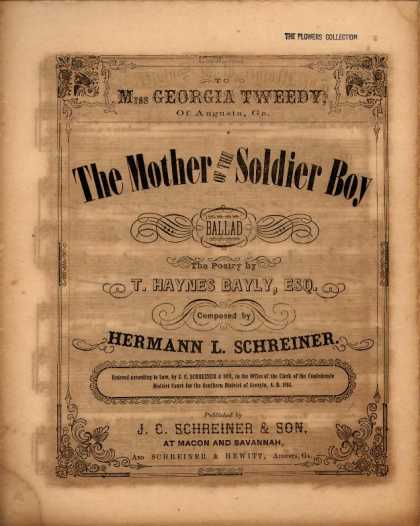 Sheet Music - The mother of the soldier boy