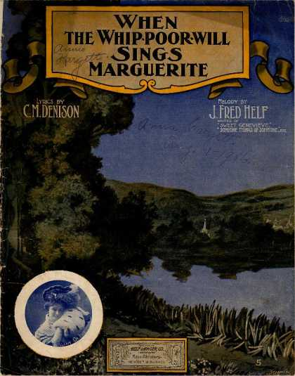 Sheet Music - When the whippoorwill sings Marguerite