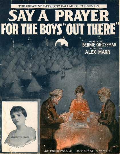 "Sheet Music - Say a prayer for the boys ""out there"""