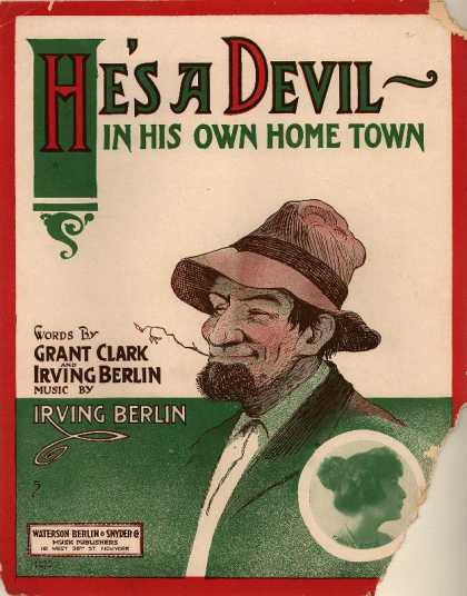 Sheet Music - He's a devil in his own home town
