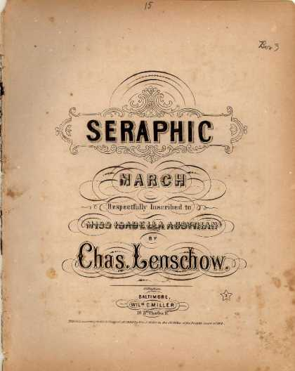 Sheet Music - Seraphic march