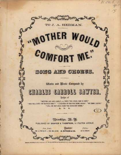 Sheet Music - Mother would comfort me