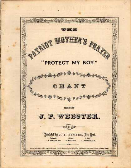 Sheet Music - Patriot mother's prayer; Protect my boy