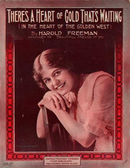 Sheet Music - There's a heart of gold that's waiting (in the heart of the golden west)