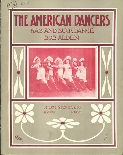 Sheet Music - The American dancers