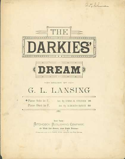 Sheet Music - The darkie's dream