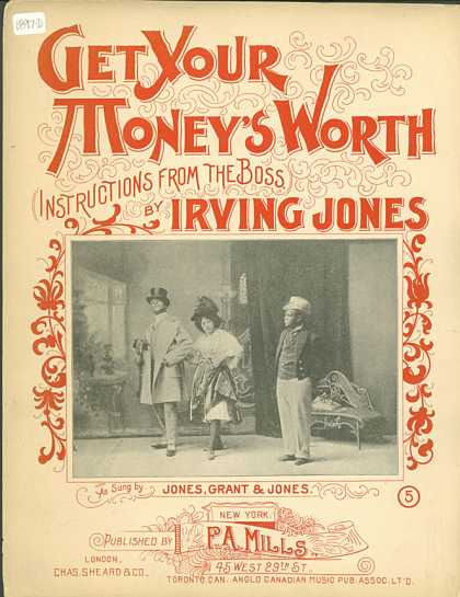 Sheet Music - Get your money's worth