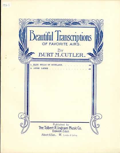 Sheet Music - Blue bells of Scotland