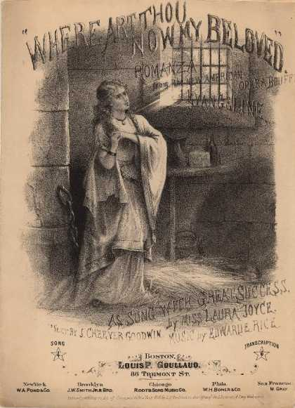 Sheet Music - Where art thou now my beloved; Evangeline