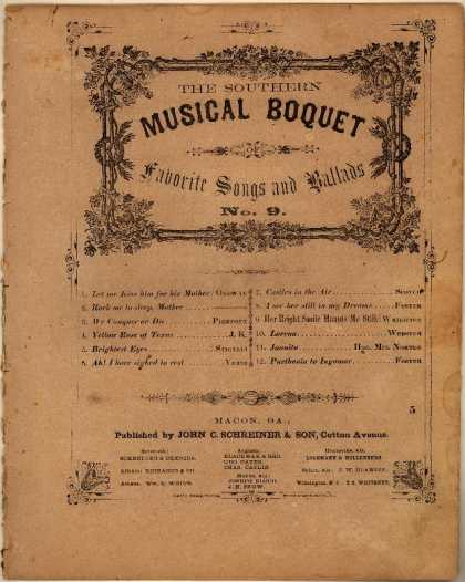 Sheet Music - Her bright smile haunts me still