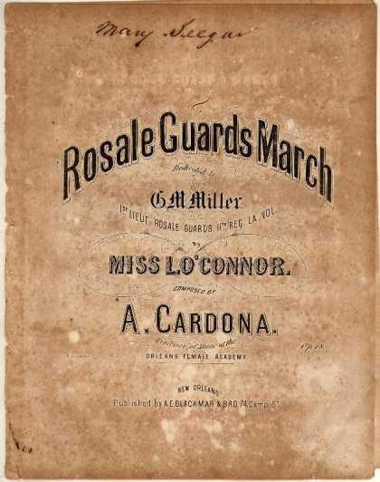 Sheet Music - Rosale Guards march; Op. 18