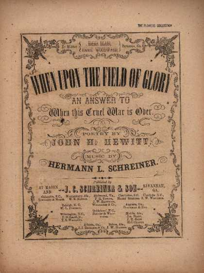 Sheet Music - When upon the field of glory; An answer to When this cruel war is over