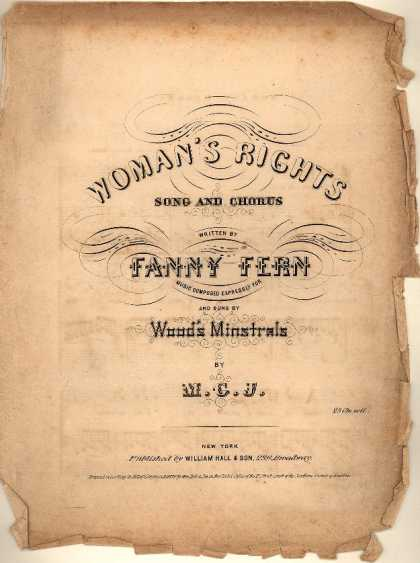 Sheet Music - Woman's rights