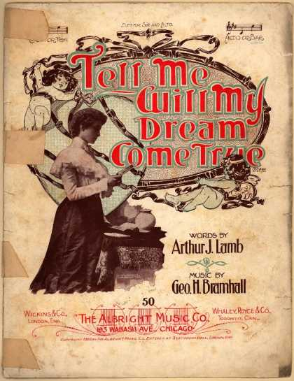 Sheet Music - Tell me will my dream come true