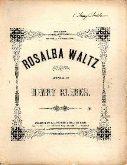 Sheet Music - Rosalba waltz