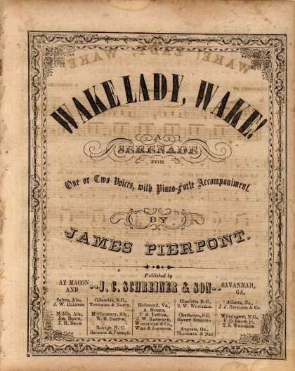 Sheet Music - Wake lady, wake