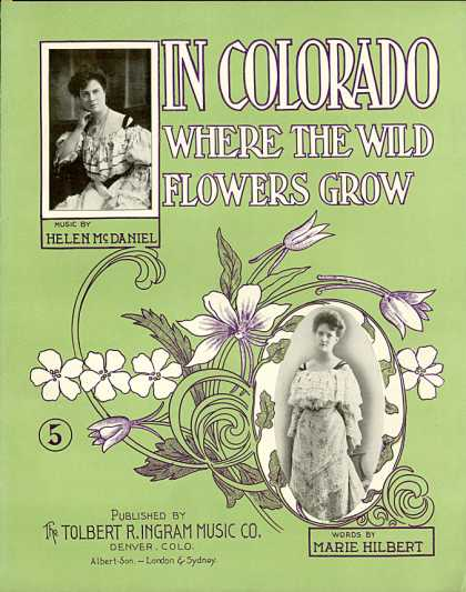 Sheet Music - In Colorado where the wild flowers grow